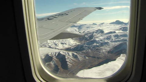 The Andes Mountains Seen From The Window Of An Airplane Archivo