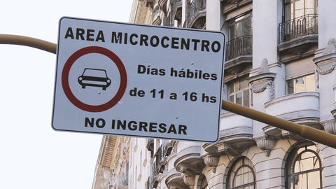 Road Sign In Buenos Aires, Argentina Footage
