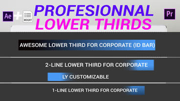 Corporate Lower Thirds Plantilla de After Effects