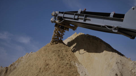 Separation of sand in construction industry. Process refinement of sand for Footage
