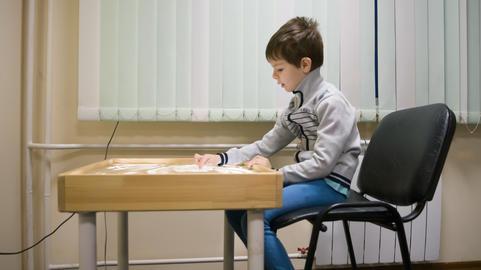 lesson on children's art therapy Fotografía