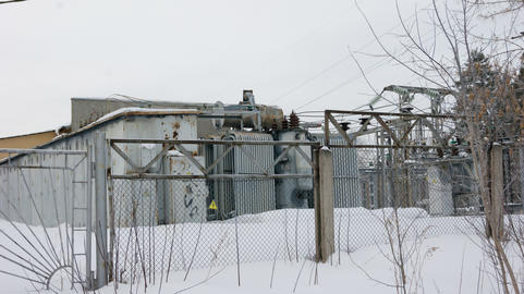 small city electrical substation Photo