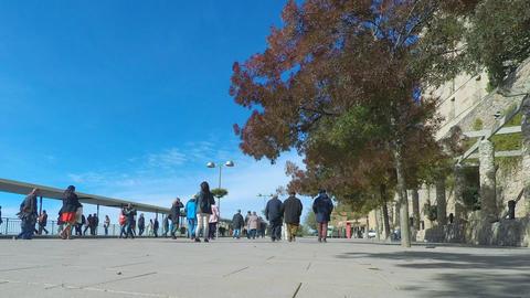 Timelapse Of A Tourist's Promenade Footage