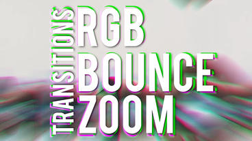 Zoom Bounce Transitions Premiere Proテンプレート
