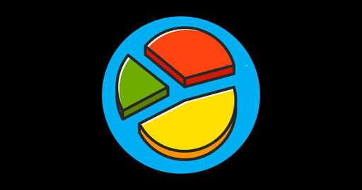 Charts Premium flat icon animated with alpha channel 영상물