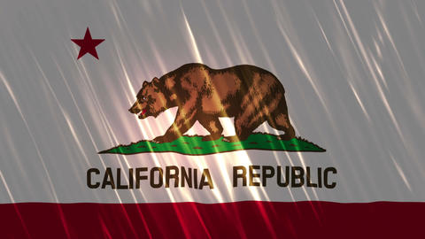 California State Loopable Flag Animation