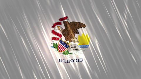 Illinois State Loopable Flag Animation