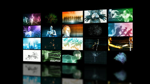 Data Streaming Video and Music Footage