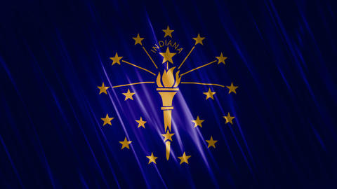 Indiana State Loopable Flag Animation