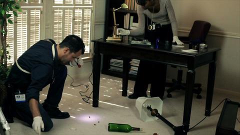 CSI gathering evidence Footage