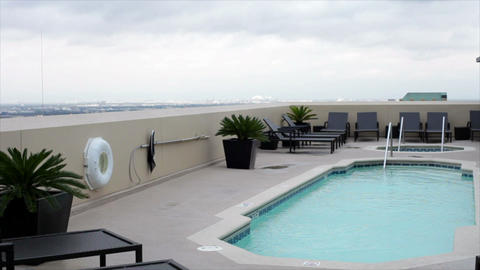 rooftop swiming pool Live Action