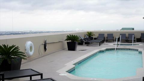 rooftop swiming pool Footage