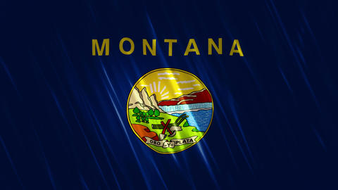 Montana State Loopable Flag Animation