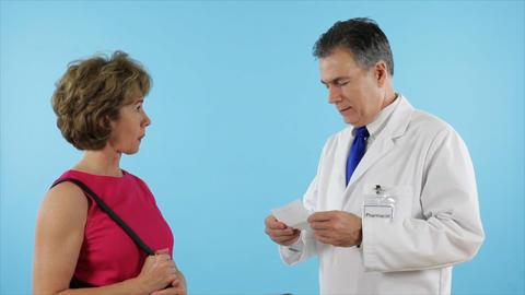 woman hands pharmacist prescription Footage