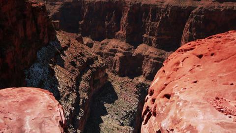 Tilt up grand canyon Footage