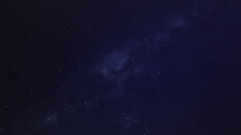 Starry Night Sky with the Milky Way Footage