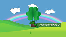 St Patrick's day animation with sale sign Animation