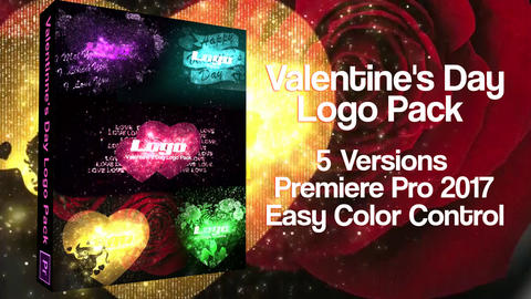 Valentine's Day & Wedding Slideshows Logos & Love For Premiere Pro Template SALE 0