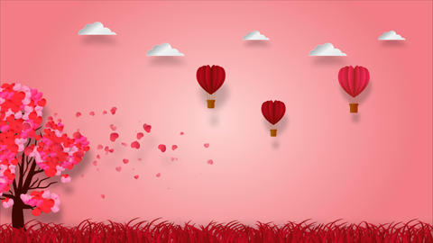 Valentines background 00201 CG動画素材
