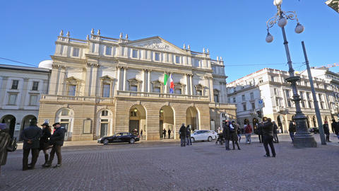 La Scala theater in Milan, Italy Footage