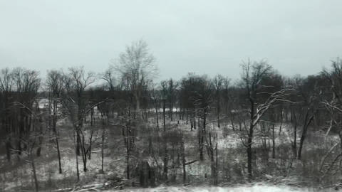View From Train Window Footage
