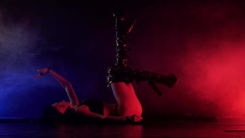 Sensual woman dance in smoke 영상물