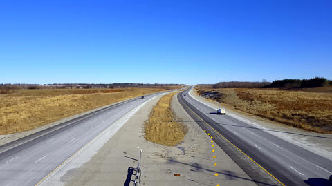 Overpass View Of Highway