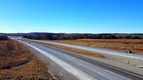 Overpass View Of Highway 0