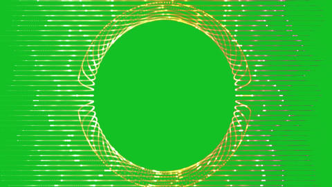 Animated gold frame on green background Animation