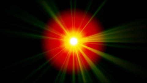 Background of red and green rays shining and sparking Animation