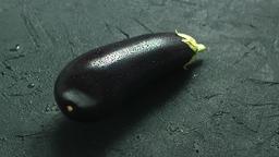 Wet single eggplant Footage