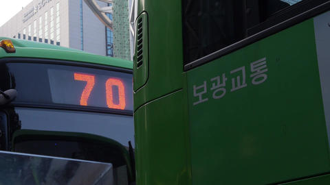 Cityscape seoul day bus 02 Footage
