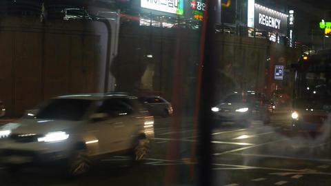 Cityscape seoul night bus 01 Footage