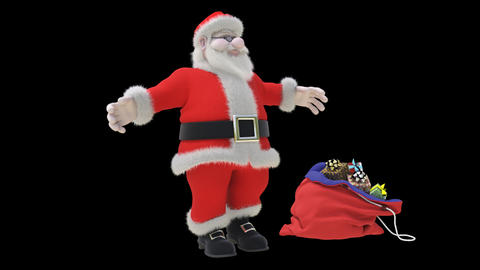 Dancing Santa Stock Video Footage
