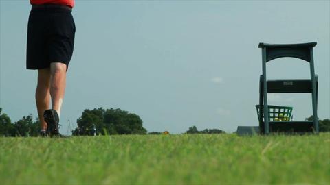 golfer practicing low shot Footage