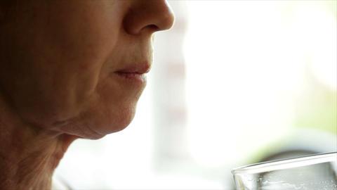 woman taking pills Footage