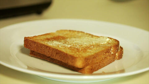 buttering toast Footage