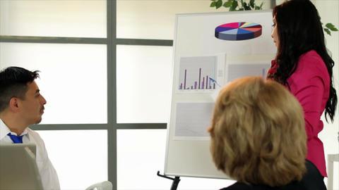 Office Teamwork Presenter stock footage
