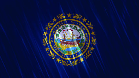 New Hampshire State Loopable Flag Animation