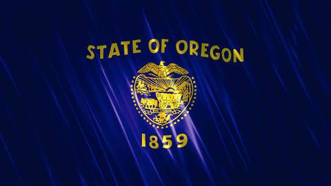 Oregon State Loopable Flag Animation