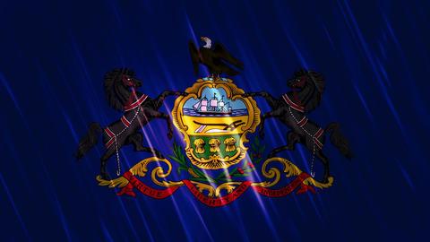 Pennsylvania State Loopable Flag Animation