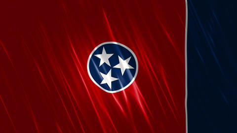 Tennessee State Loopable Flag Animation