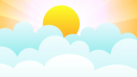 Sun in bouncing clouds Animation