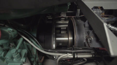 Shaft Of The Motor While Working stock footage