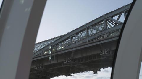 Excursion Boat Under The Bridge Footage