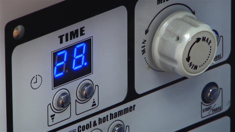 Electronic Device With Buttons And Digital Display Flickering Showing That Opera stock footage