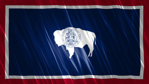 Wyoming State Loopable Flag Animation