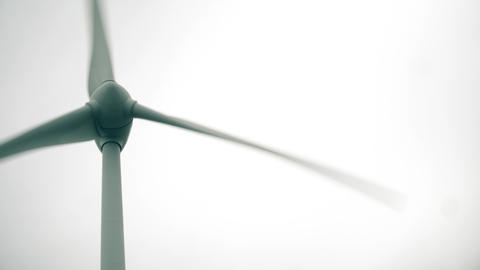 Spinning wind generator, low angle close-up shot 영상물