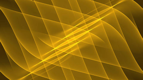 Wavy gold abstract background in tunnel motion with little yellow flying light Animation