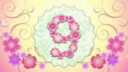 Pink flower countdown 10 애니메이션